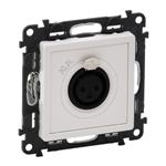Изображение Valena LIFE.Аудиорозетка с 3-контактным гнездом XLR.С лицевой панелью.Белая
