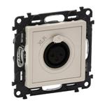 Изображение Valena LIFE.Аудиорозетка с 3-контактным гнездом XLR.С лицевой панелью.Слоновая кость