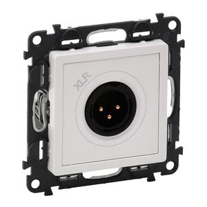 Изображение Valena LIFE.Аудиорозетка с 3-контактной вилкой XLR.С лицевой панелью.Белая