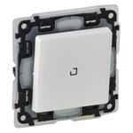 Изображение Valena IP 44.Переключатель 10АХ 250В с подсветкой,с лицевой панелью.Безвинтовые зажимы.Белый