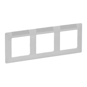 """Изображение Valena LIFE.Рамка """"Белая"""".С держателем для маркировки.3-постовая горизонтальная"""