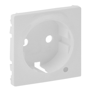 Изображение Valena LIFE.Лицевая панель розетки 2К+З c линзой для подсветки/индикации.Белая