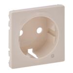 Изображение Valena LIFE.Лицевая панель розетки 2К+З с линзой для подсветки/индикации.Слоновая кость