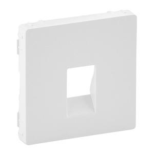 Изображение Valena LIFE.Лицевая панель для аудиорозетки с пружинными зажимами одиночной.Белая