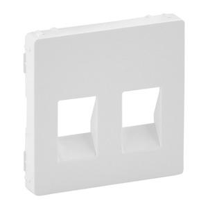 Изображение Valena LIFE.Лицевая панель для аудиорозетки с пружинными зажимами двойной.Белая