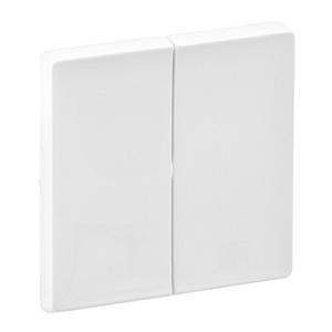 Изображение Valena LIFE.Лицевая панель для двухклавишного выключателя.Белая