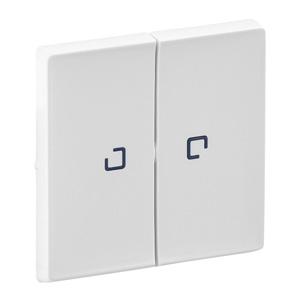 Изображение Valena LIFE.Лицевая панель для выключателя двухклавишного с подсветкой .Белая