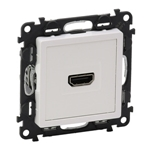 Изображение Valena LIFE.Розетка для аудио/видео устройств HDMI Тип А.С лицевой панелью.Белая