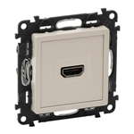 Изображение Valena LIFE.Розетка для аудио/видео устройств HDMI Тип А.С лицевой панелью.Слоновая кость