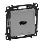 Изображение Valena LIFE.Розетка для аудио/видео устройств HDMI Тип А.С лицевой панелью.Алюминий