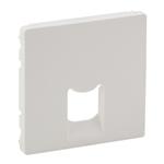 Изображение Valena ALLURE.Лицевая панель для одиночных розеток телефонных/информационных с держателем маркировки.Белая