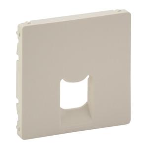 Изображение Valena ALLURE.Лицевая панель для одиночных розеток телефонных/информационных с держателем маркировки.Слоновая кость