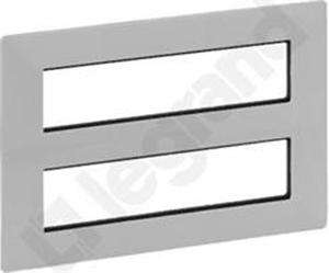 Изображение Valena LIFE.Рамка для модульных устройств Mosaic 2x4x2 модуля.Алюминий