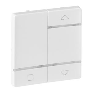 Изображение Valena LIFE MyHome Play Zigbee. Лицевая панель для радиоприемного выключателя,для приводов жалюзи/рольставень.Белая