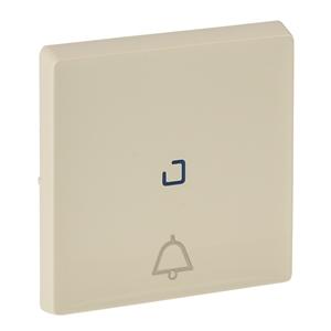 """Изображение Valena LIFE.Лицевая панель для кнопочного выключателя, с символом """"звонок"""",c линзой для подсветки.Слоновая кость"""