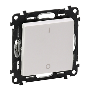 Изображение Valena LIFE.Выключатель двухполюсный 16АХ 250В с лицевой панелью.Винтовые зажимы.Белый