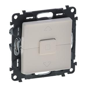 Изображение Valena LIFE.Выключатель кнопочный управления для жалюзи и рольставней 6А 250В.С лицевой панелью.Безвинтовые зажимы.Слоновая кость