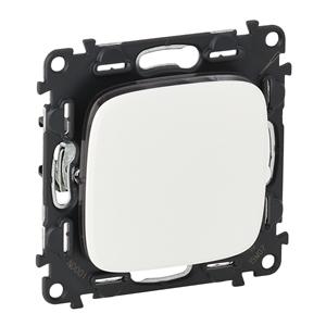 Изображение Valena ALLURE.Выключатель 10АХ 250В с лицевой панелью.Безвинтовые зажимы.Белый