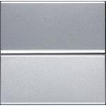 Изображение ABB NIE Zenit Серебро Выключатель 1-клавишный кнопочный НЗ-контакт 2 мод