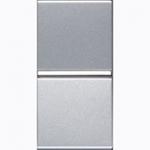 Изображение ABB NIE Zenit Серебро Выключатель 1-клавишный кнопочный НО-контакт без символа 1 мод