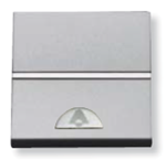 Изображение ABB NIE Zenit Серебро Выключатель 1-клавишный кнопочный НО-контакт с символом Звонок 2 мод