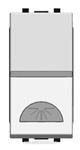 Изображение ABB NIE Zenit Серебро Выключатель 1-клавишный кнопочный НО-контакт с символом Освещение 1 мод