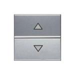 Изображение ABB NIE Zenit Серебро Выключатель жалюзийный электронный, 700 ВА, 2 мод