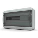 Изображение BNK 65-18-1 Щит навесной 18 мод. IP65, прозрачная черная дверца Tekfor