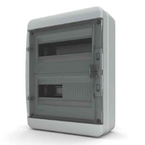 Изображение BNK 65-24-1 Щит навесной 24 мод. IP65, прозрачная черная дверца Tekfor