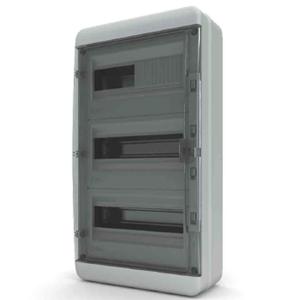 Изображение BNK 65-36-1 Щит навесной 36 мод. IP65, прозрачная черная дверца Tekfor