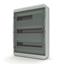 Изображение BNK 65-54-1 Щит навесной 54 мод. IP65, прозрачная черная дверца Tekfor