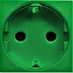 Изображение ABB NIE Zenit Зеленый Розетка с/з с защитными шторками