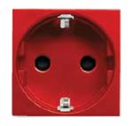 Изображение ABB NIE Zenit Красный Розетка с/з с защитными шторками
