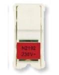 Изображение ABB NIE Zenit Лампа неоновая для 2-полюсных выключателей,переключателей, цвет цоколя красный