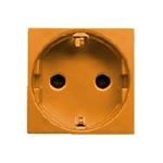 Изображение ABB NIE Zenit Оранжевый Розетка с/з с защитными шторками