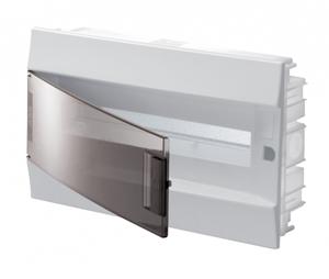 Изображение ABB Mistral41 Бокс в нишу 18М прозрачная дверь (c клемм)