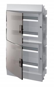 Изображение ABB Mistral41 Бокс в нишу 72М прозрачная дверь (c клемм)
