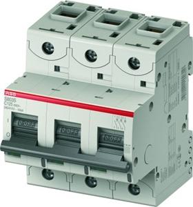 Изображение ABB S803C Автоматический выключатель 3P 100A (С) 25кА (4.5 мод.)
