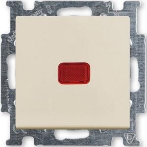Изображение ABB BJB Basic 55 Беж Переключатель 1-клавишный с подсветкой и N-клеммой