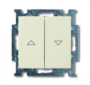 Изображение ABB BJB Basic 55 Беж Выключатель жалюзийный кнопочный