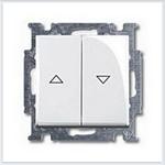 Изображение ABB BJB Basic 55 Бел Выключатель жалюзийный кнопочный