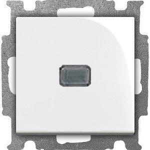 Изображение ABB BJB Basic 55 Бел Выключатель кнопочный 1-клавишный, с линзой, без лампы, НО контакт