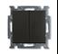 Изображение ABB BJB Basic 55 Шато (чёрн) Переключатель 2-х клавишный
