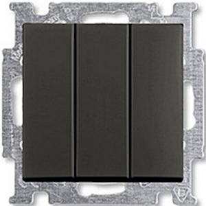 Изображение ABB BJB Basic 55 Шато (чёрн) Выключатель 3-клавишный, 16А