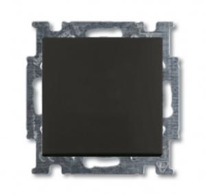 Изображение ABB BJB Basic 55 Шато (чёрн) Выключатель кнопочный 1-клавишный, НО контакт