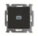 Изображение ABB BJB Basic 55 Шато (чёрн) Выключатель кнопочный 1-клавишный, с линзой, без лампы, НО контакт