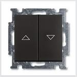 Изображение ABB BJB Basic 55 Шато (чёрн) Выключатель жалюзийный кнопочный