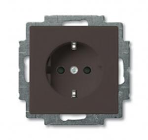 Изображение ABB BJB Basic 55 Шато (чёрн) Розетка с/з с защитными шторками