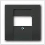 Изображение ABB BJB Basic 55 Шато (чёрн) Накладка аудиорозетки и ТЛФ/комп ТАЕ розеток