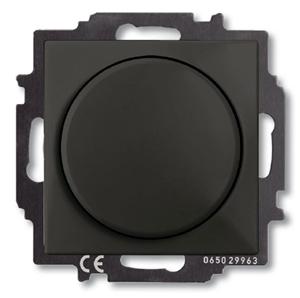 Изображение ABB BJB Basic 55 Шато (чёрн) Светорегулятор поворотно-нажимной 60-400 Вт для л/н